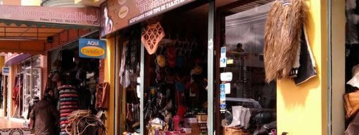 Leather goods store, Quisapincha