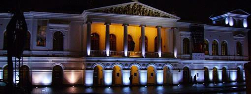 Plaza del Teatro, Quito by night